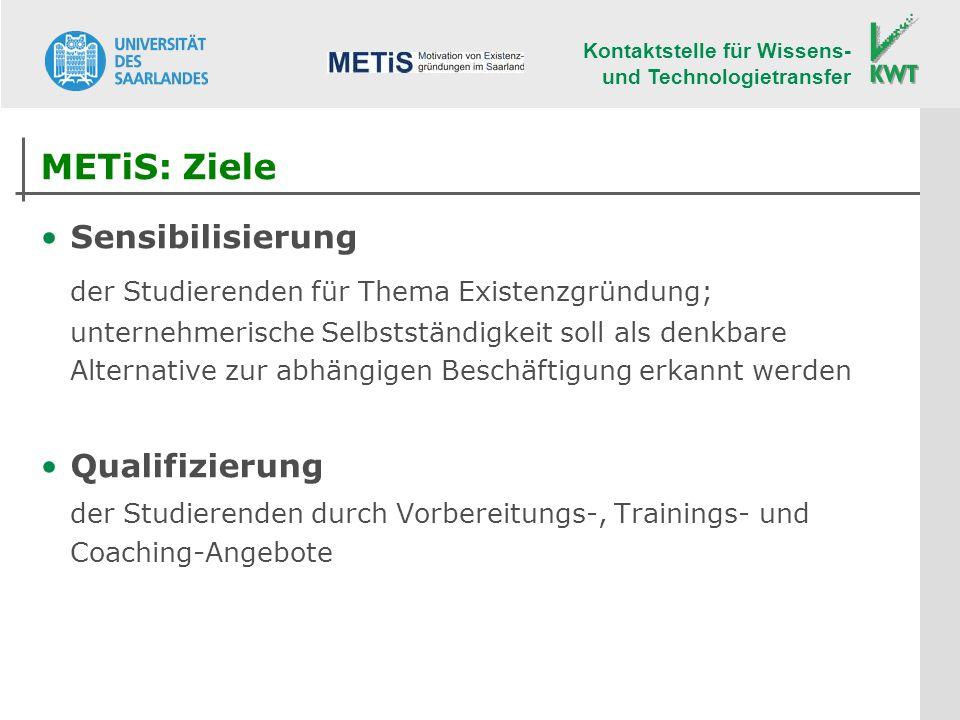 METiS: Ziele Sensibilisierung