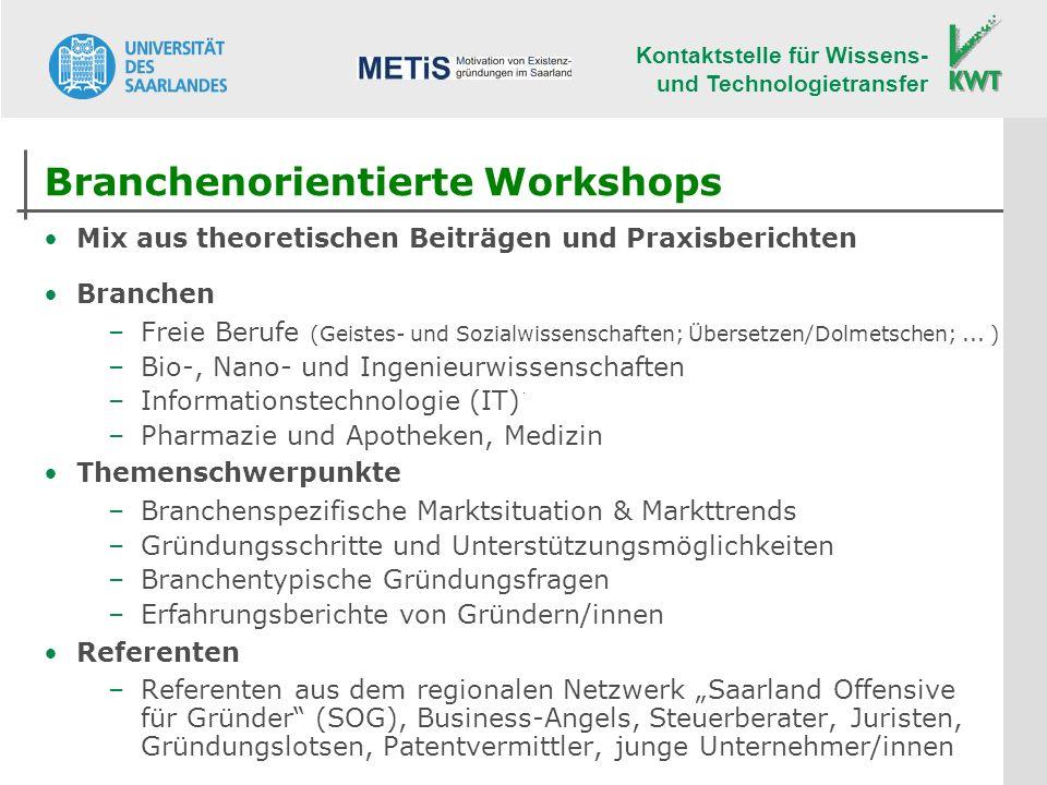 Branchenorientierte Workshops