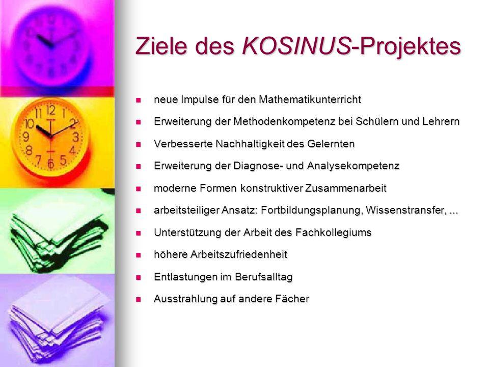 Ziele des KOSINUS-Projektes