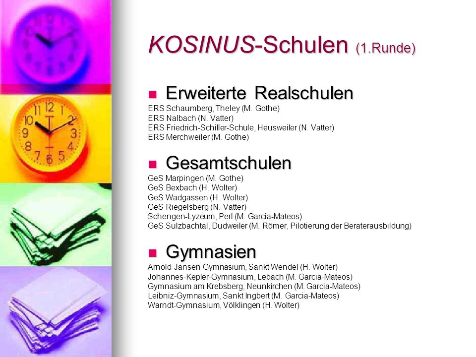 KOSINUS-Schulen (1.Runde)