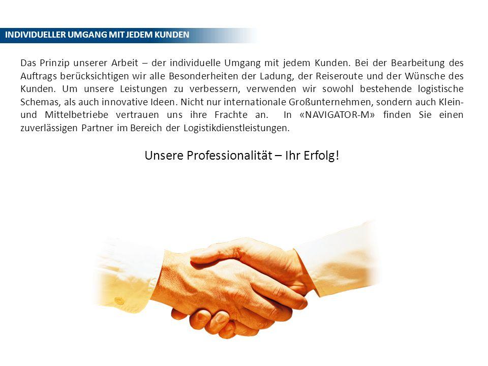 Unsere Professionalität – Ihr Erfolg!