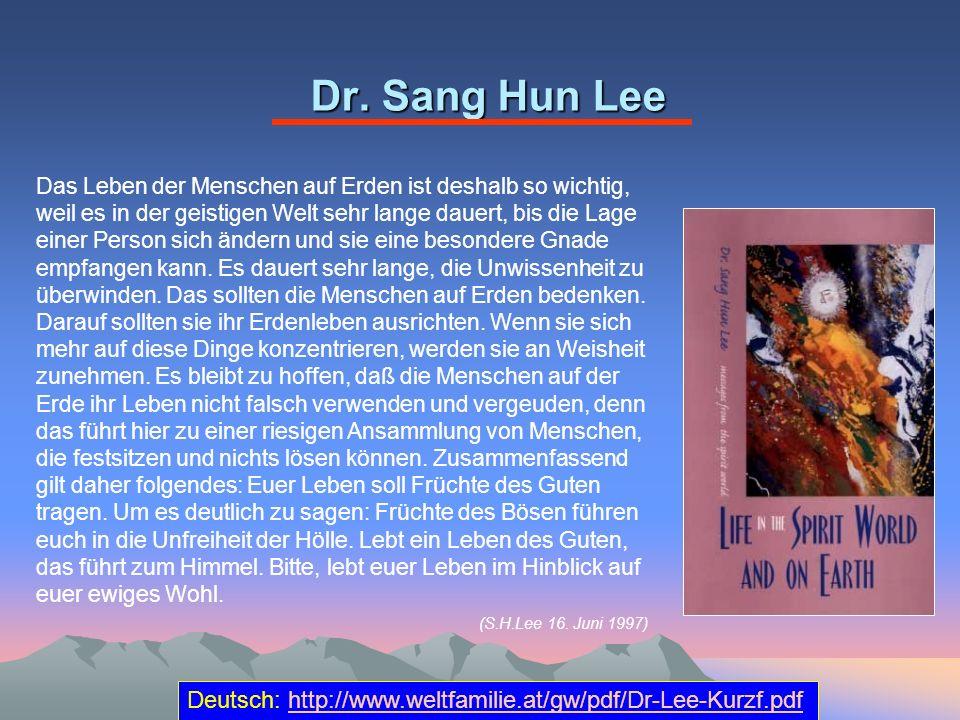Dr. Sang Hun Lee