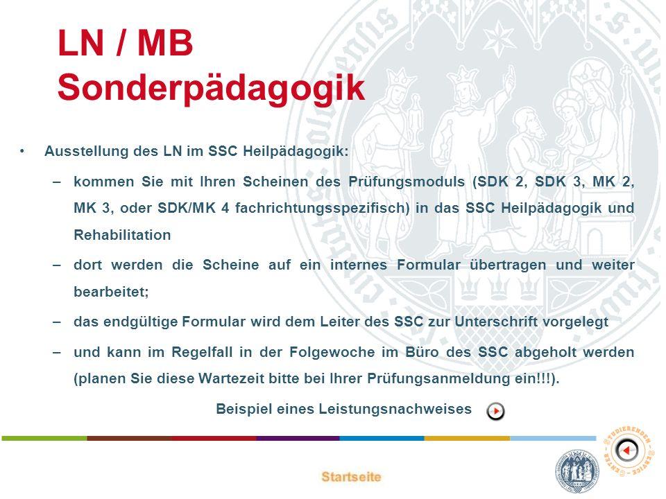 LN / MB Sonderpädagogik
