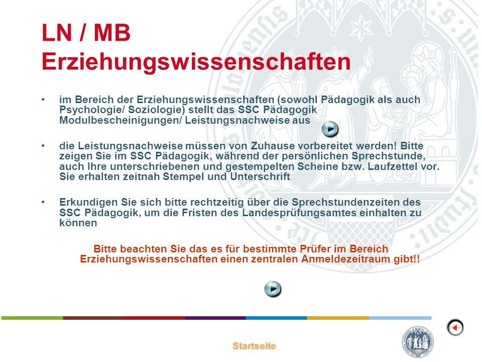 LN / MB Erziehungswissenschaften