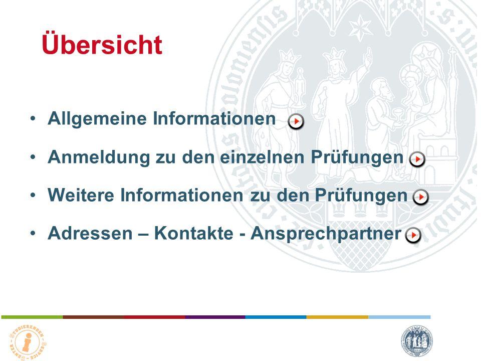 Übersicht Allgemeine Informationen