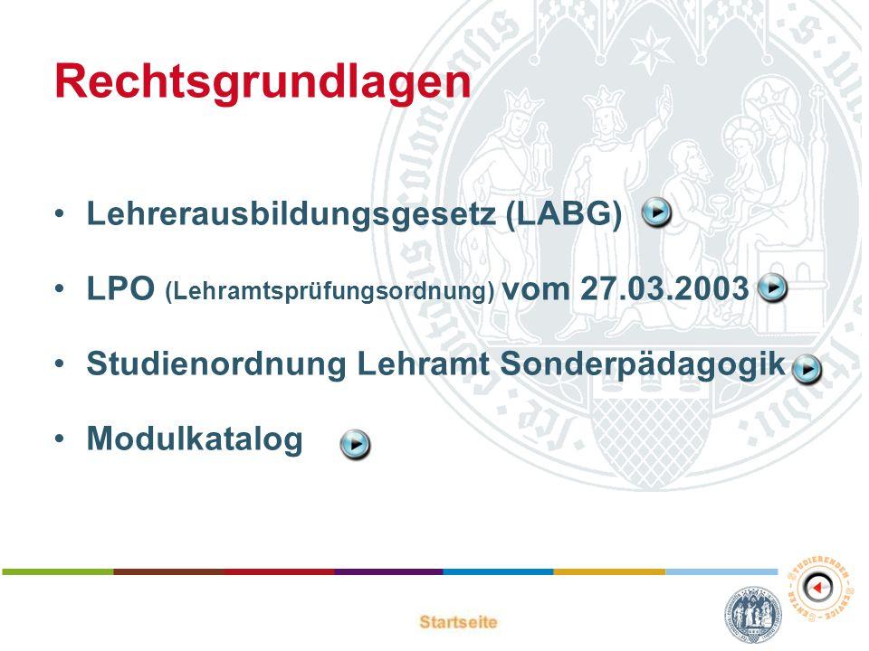 Rechtsgrundlagen Lehrerausbildungsgesetz (LABG)