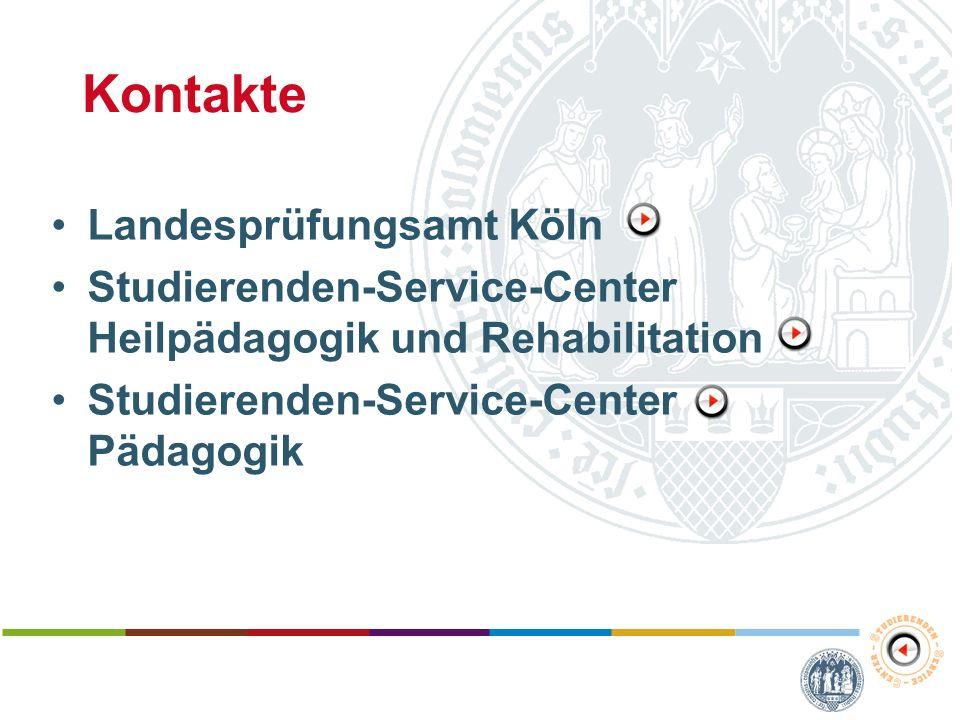 Kontakte Landesprüfungsamt Köln