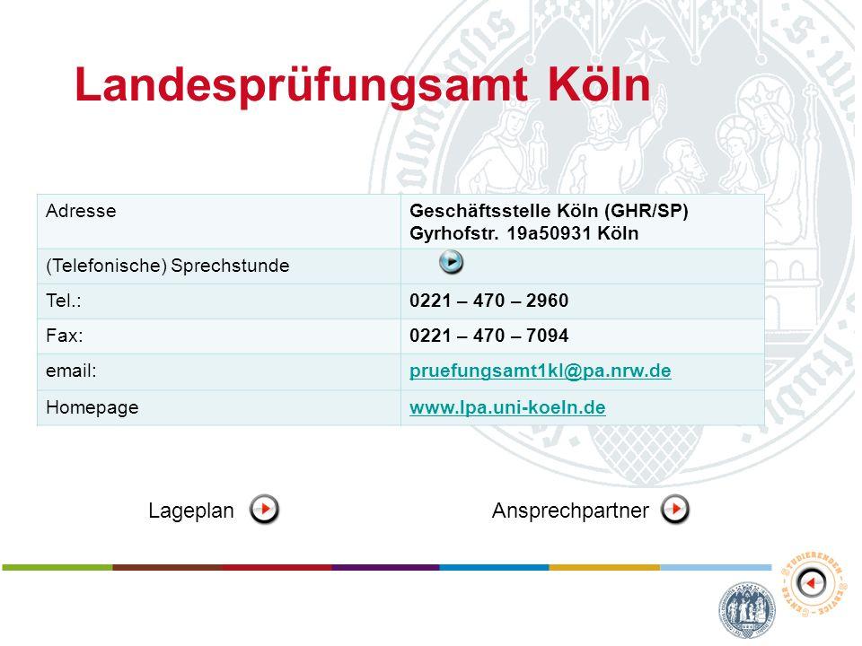 Landesprüfungsamt Köln