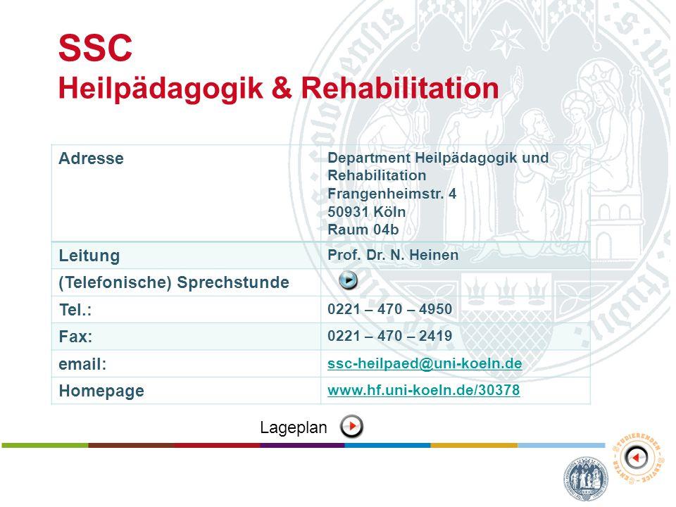 SSC Heilpädagogik & Rehabilitation