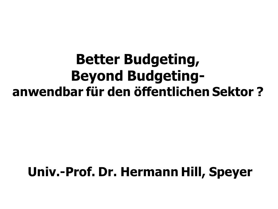 Univ.-Prof. Dr. Hermann Hill, Speyer
