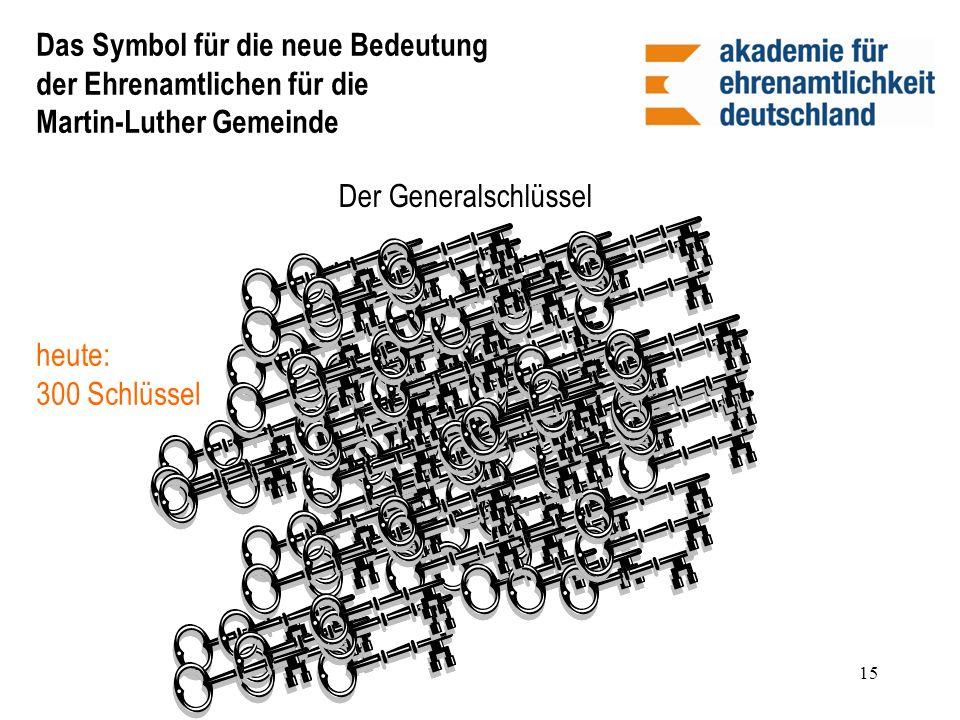 Das Symbol für die neue Bedeutung der Ehrenamtlichen für die Martin-Luther Gemeinde