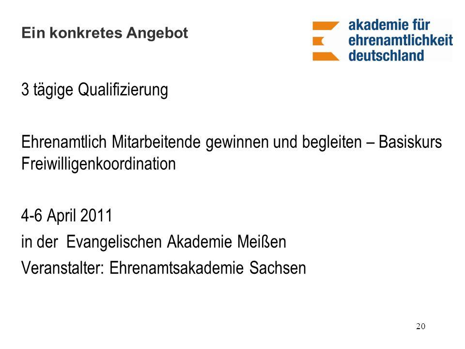3 tägige Qualifizierung