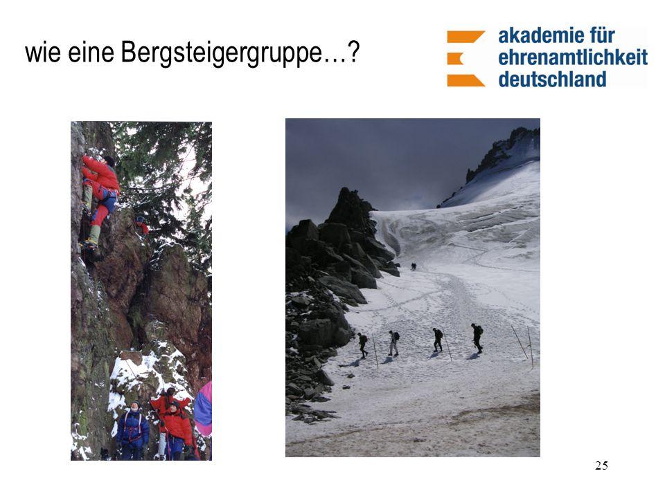 wie eine Bergsteigergruppe…