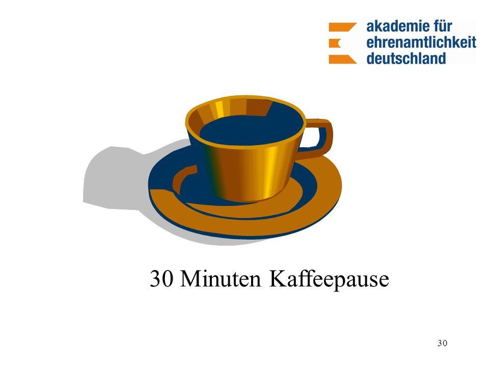 30 Minuten Kaffeepause