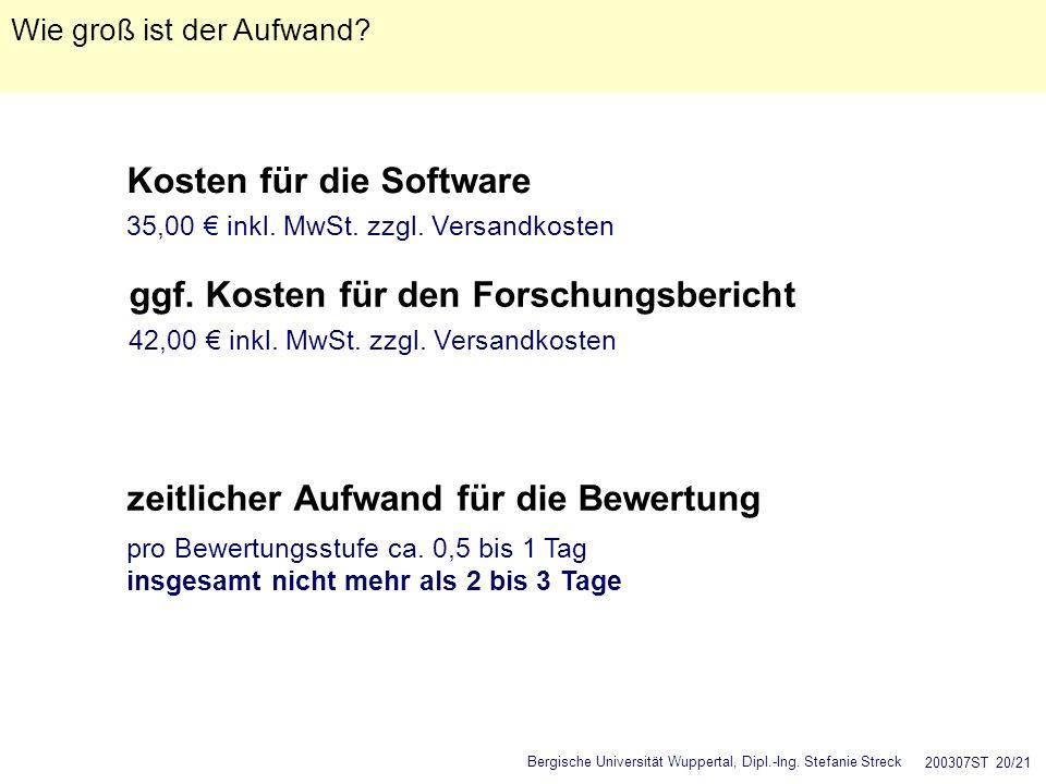 Kosten für die Software