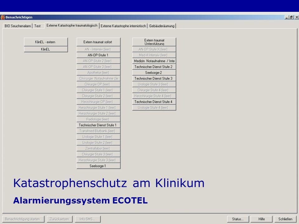 Katastrophenschutz am Klinikum Alarmierungssystem ECOTEL
