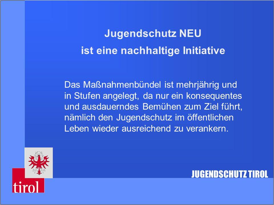 Jugendschutz NEU ist eine nachhaltige Initiative