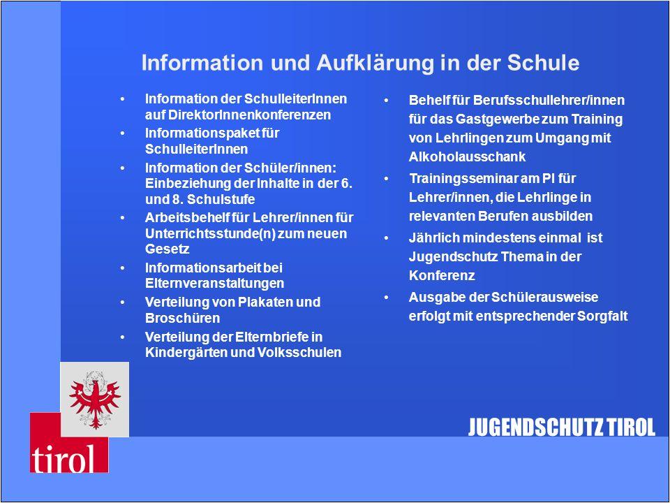 Information und Aufklärung in der Schule