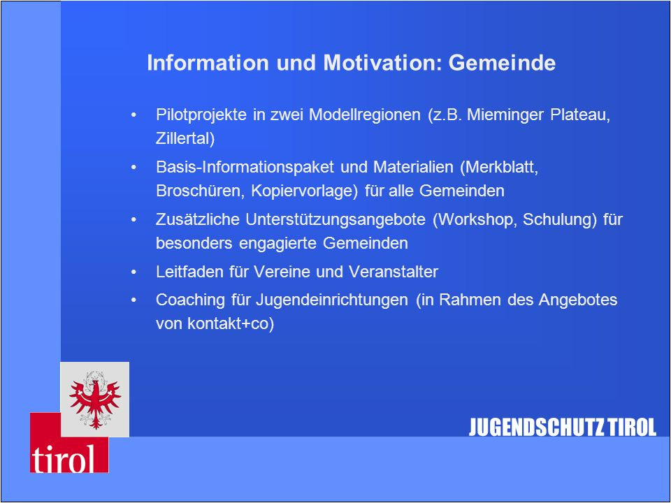 Information und Motivation: Gemeinde
