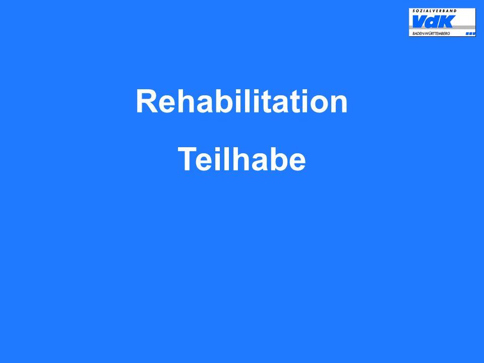 Rehabilitation Teilhabe
