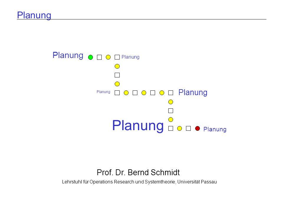 Planung Planung Planung Planung Prof. Dr. Bernd Schmidt Planung