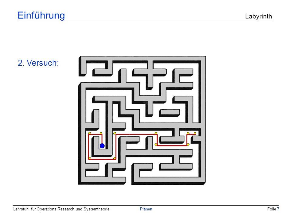 Einführung Labyrinth 2. Versuch: