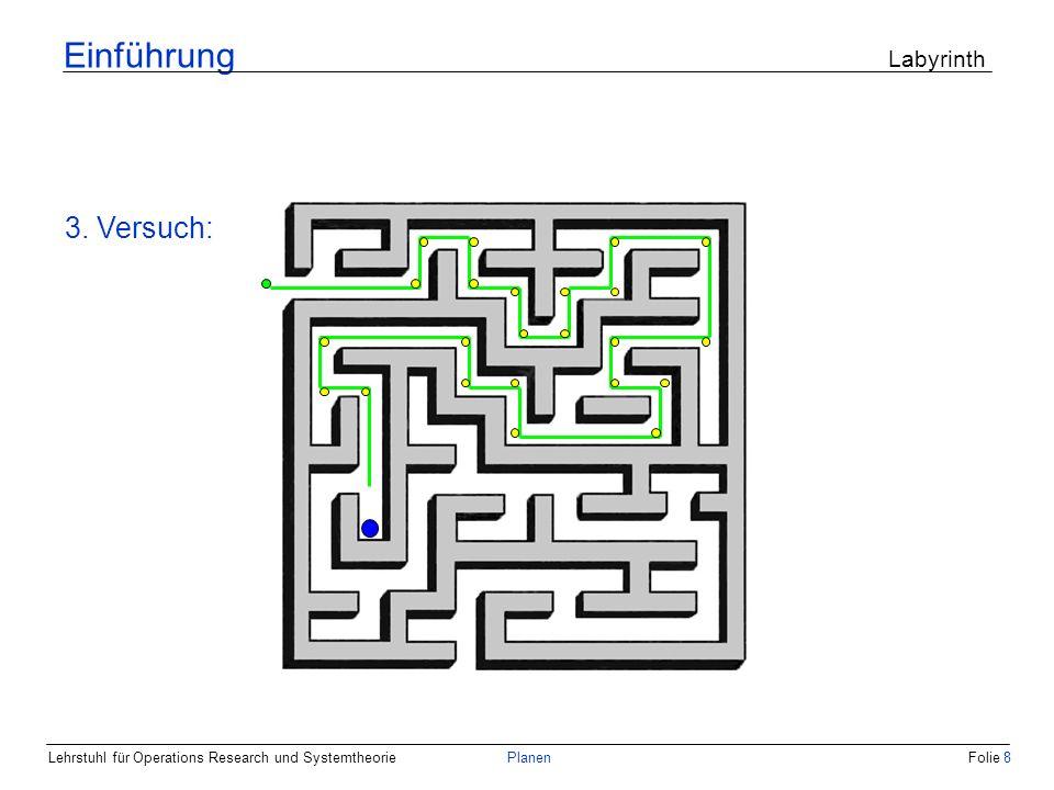Einführung Labyrinth 3. Versuch: