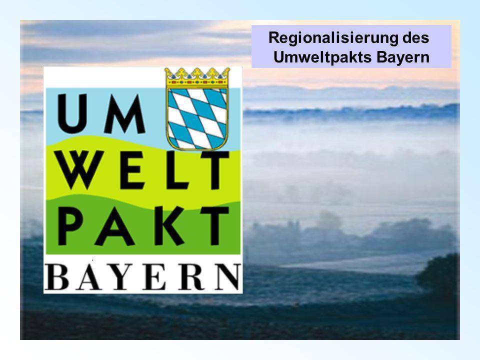Regionalisierung des Umweltpakts Bayern