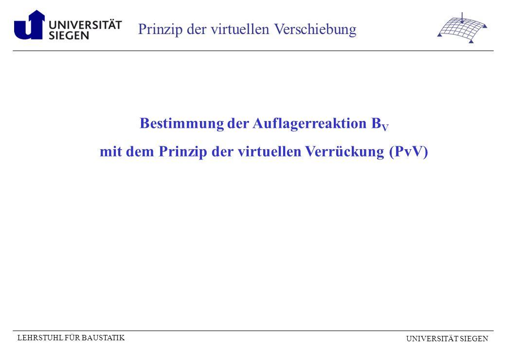 Bestimmung der Auflagerreaktion BV