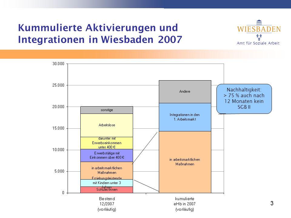 Kummulierte Aktivierungen und Integrationen in Wiesbaden 2007