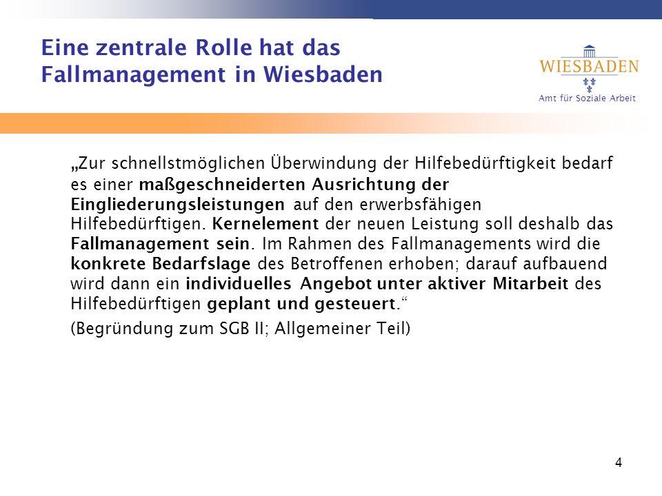 Eine zentrale Rolle hat das Fallmanagement in Wiesbaden