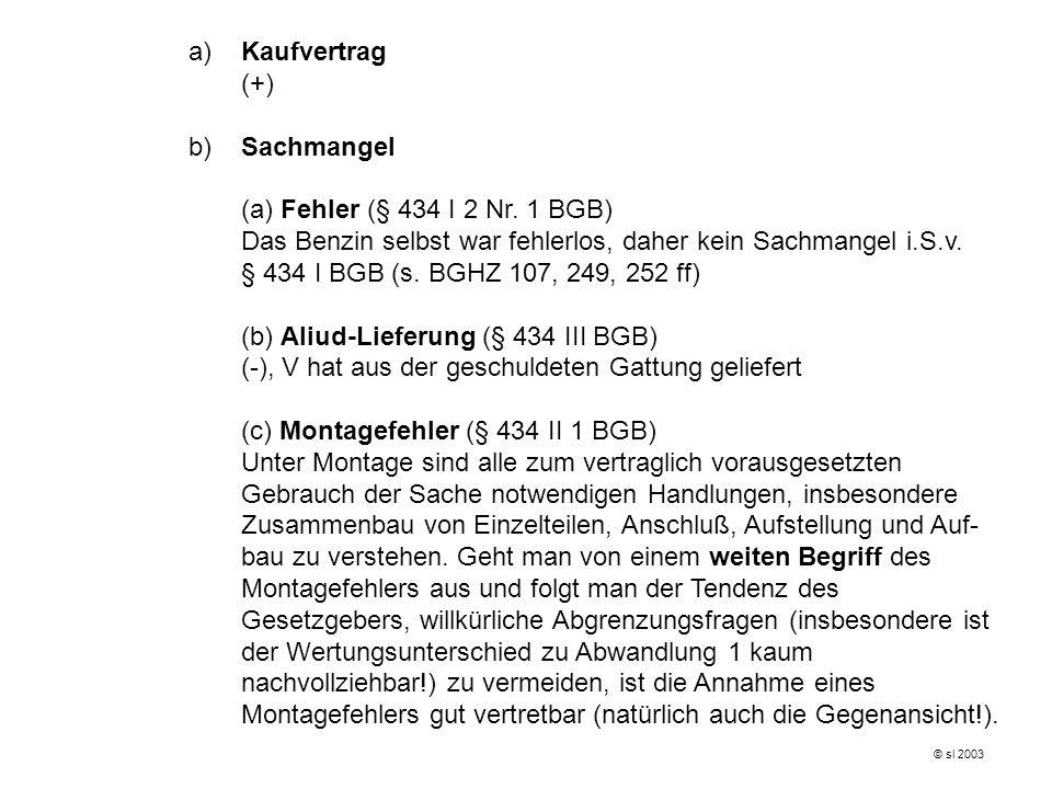 (b) Aliud-Lieferung (§ 434 III BGB)