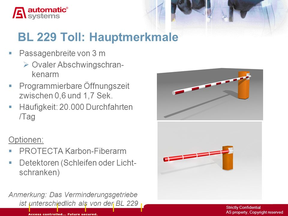 BL 229 Toll: Hauptmerkmale