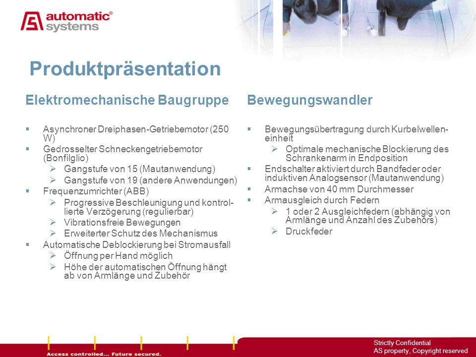 Produktpräsentation Elektromechanische Baugruppe Bewegungswandler