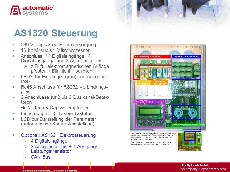 AS1320 Steuerung 230 V einphasige Stromversorgung