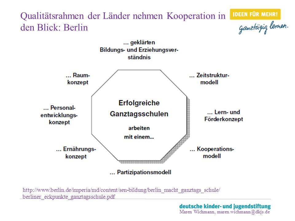 Qualitätsrahmen der Länder nehmen Kooperation in den Blick: Berlin