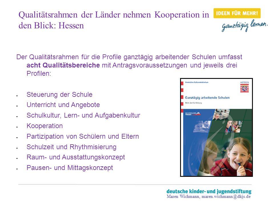 Qualitätsrahmen der Länder nehmen Kooperation in den Blick: Hessen