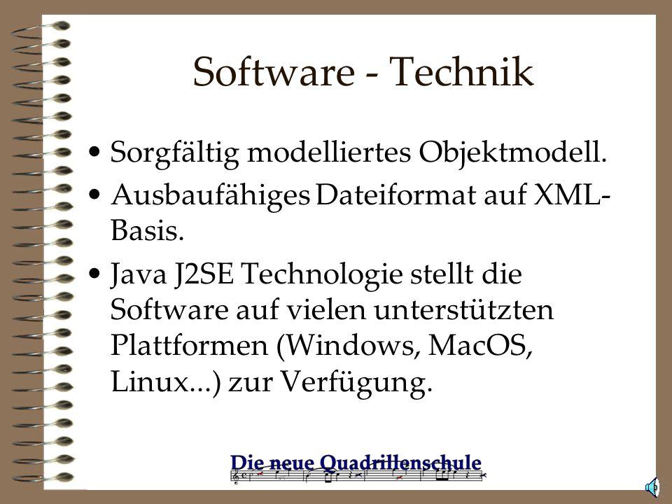 Software - Technik Sorgfältig modelliertes Objektmodell.
