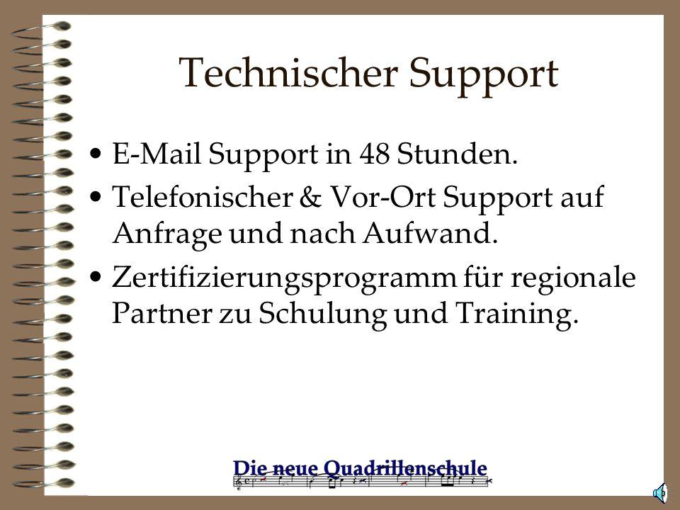Technischer Support E-Mail Support in 48 Stunden.