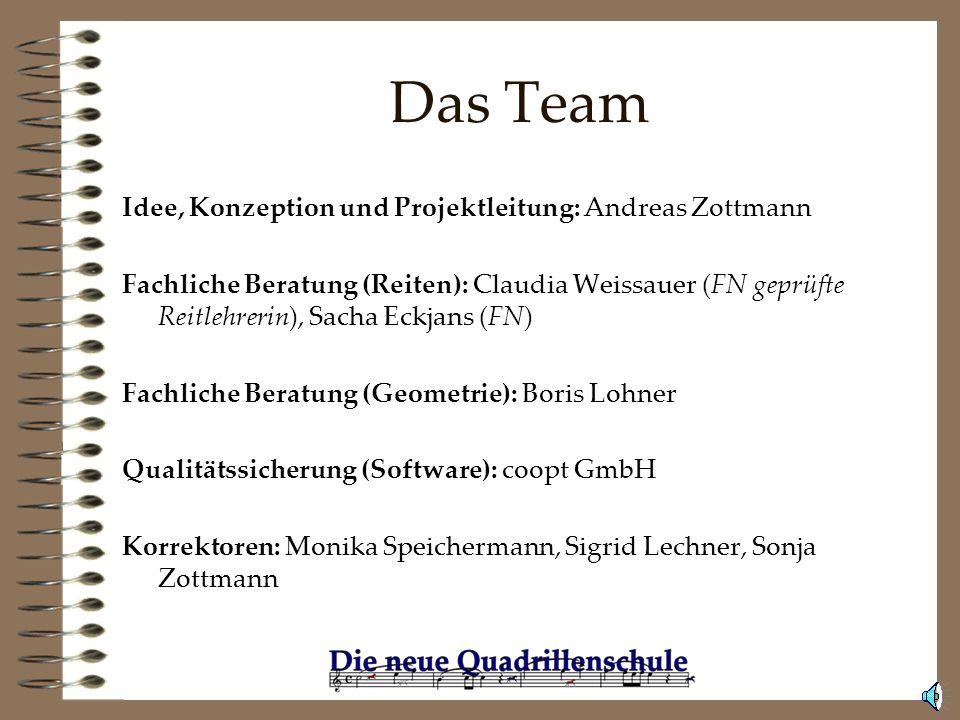 Das Team Idee, Konzeption und Projektleitung: Andreas Zottmann