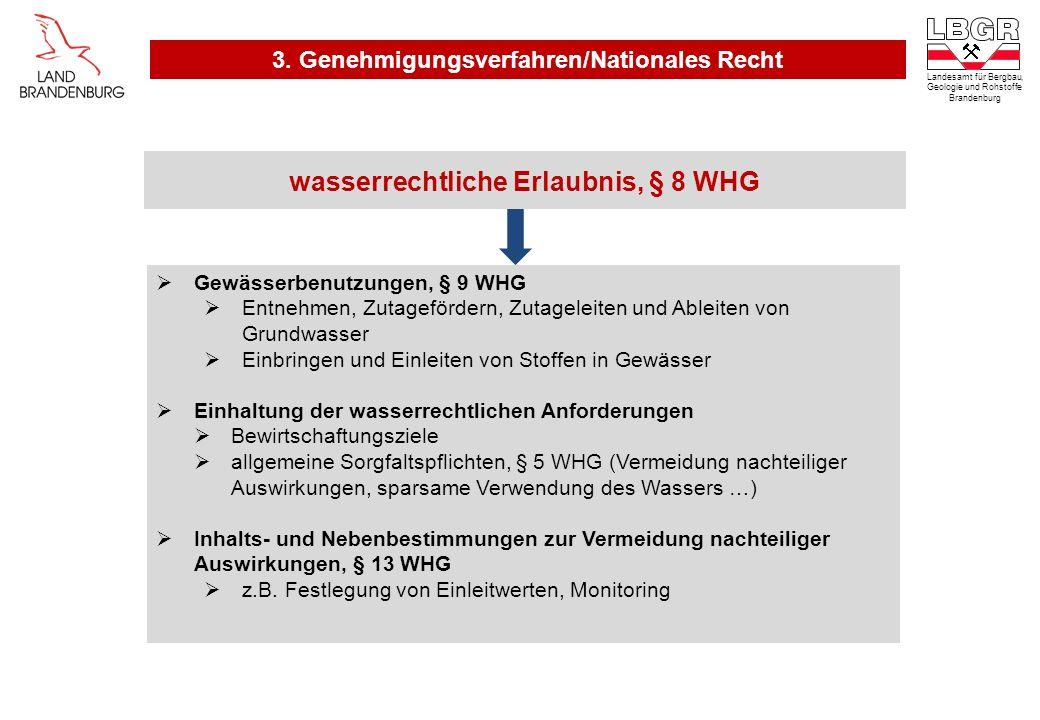 wasserrechtliche Erlaubnis, § 8 WHG