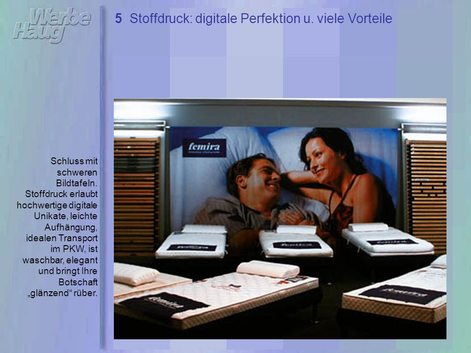 5 Stoffdruck: digitale Perfektion u. viele Vorteile