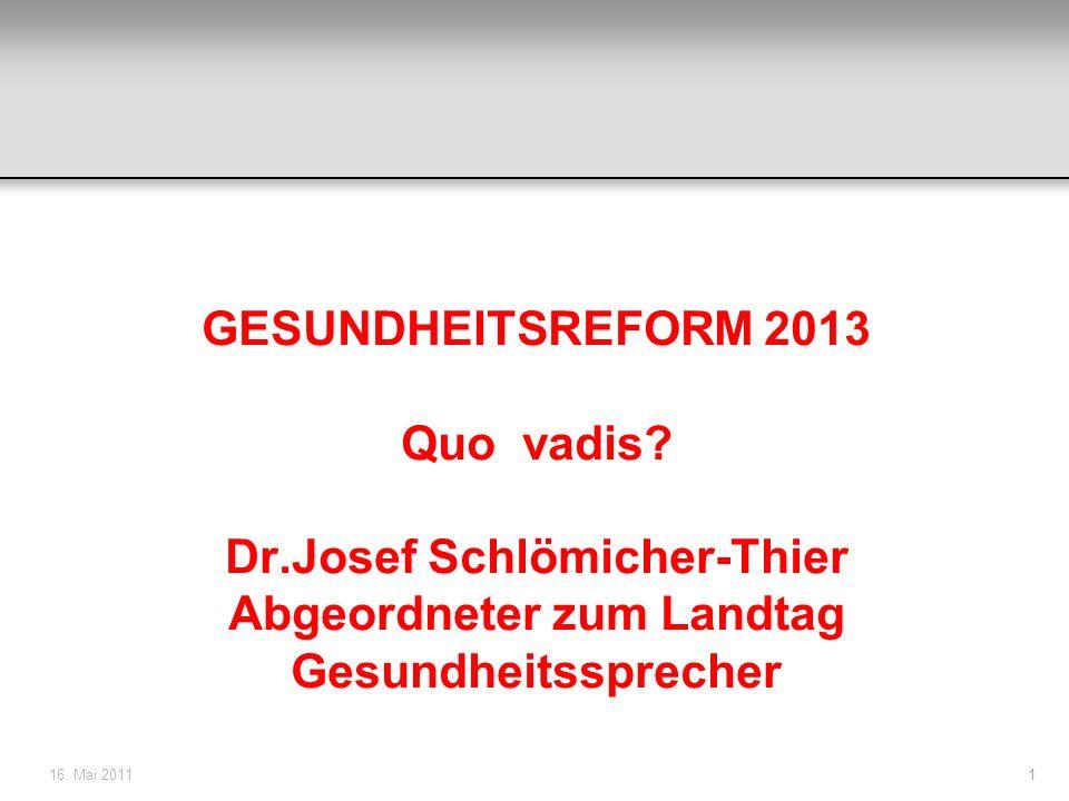 Dr.Josef Schlömicher-Thier Abgeordneter zum Landtag