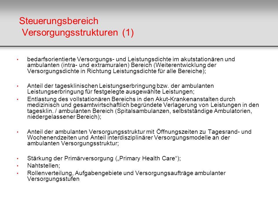 Steuerungsbereich Versorgungsstrukturen (1)
