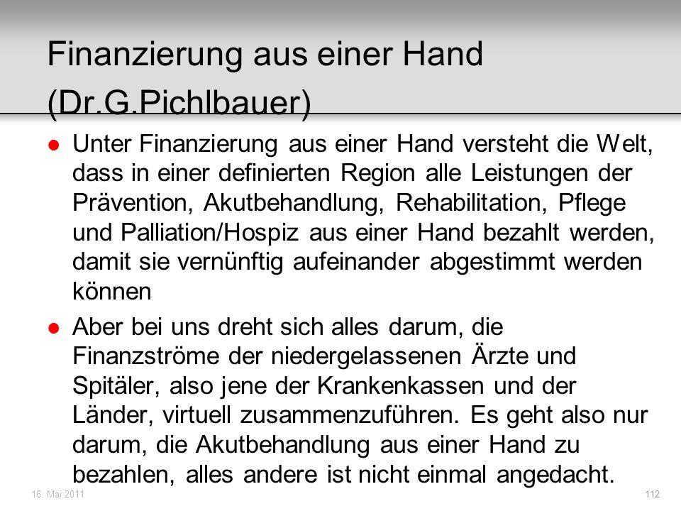 Finanzierung aus einer Hand (Dr.G.Pichlbauer)