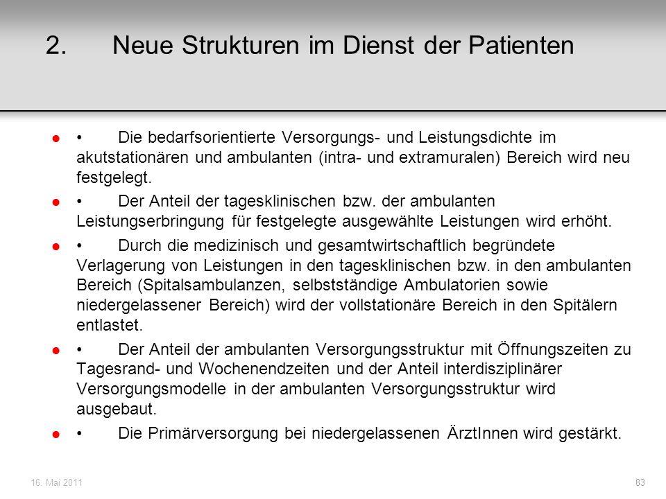 2. Neue Strukturen im Dienst der Patienten