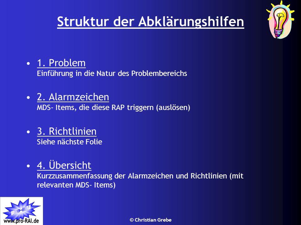Struktur der Abklärungshilfen