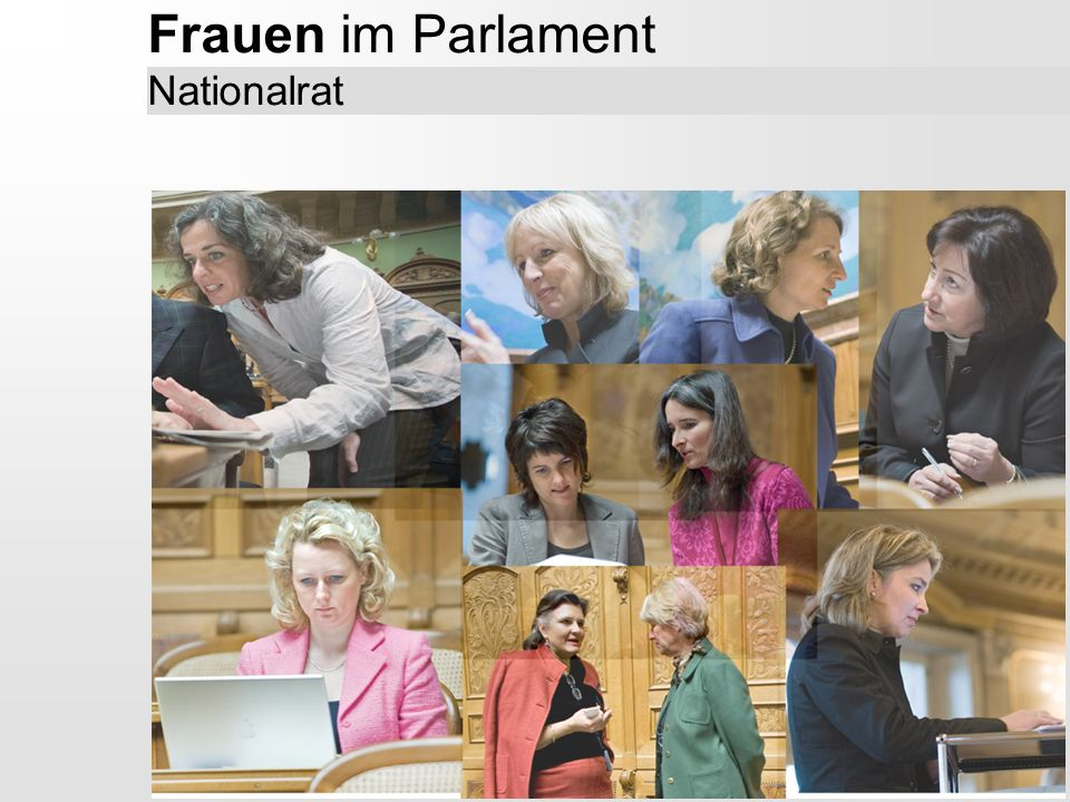 Frauen im Parlament Nationalrat