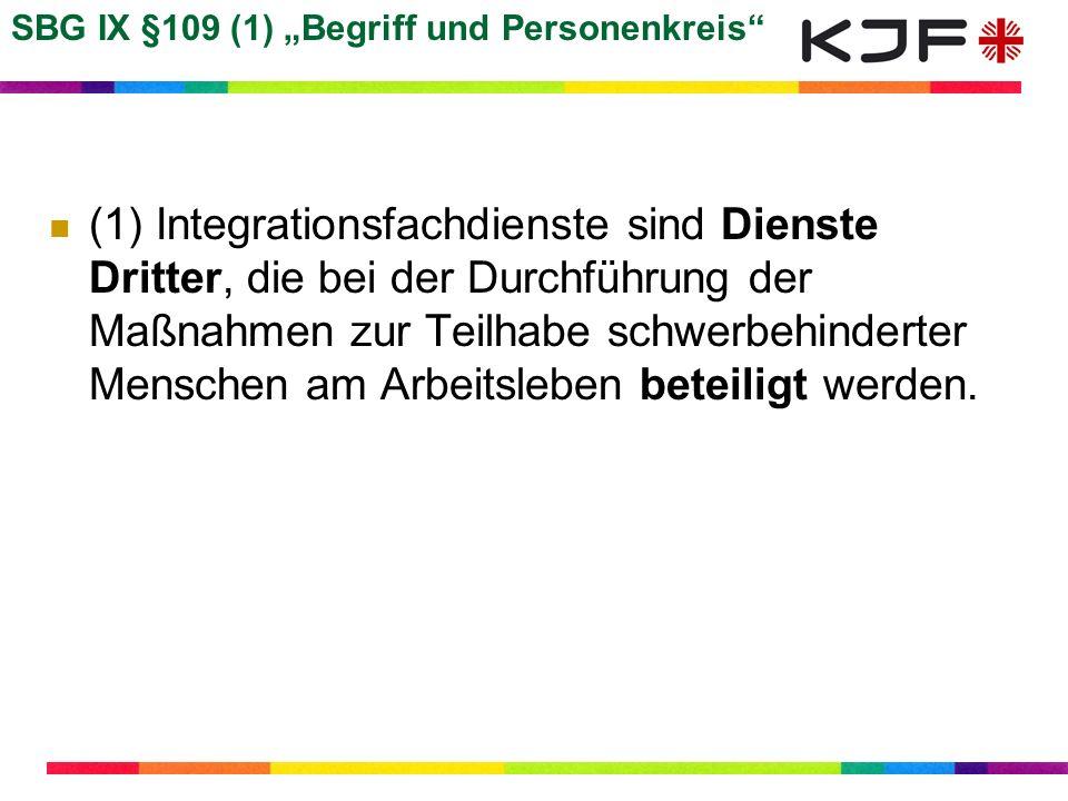 """SBG IX §109 (1) """"Begriff und Personenkreis"""