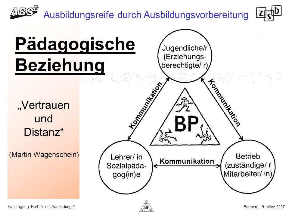 """""""Vertrauen und Distanz (Martin Wagenschein)"""